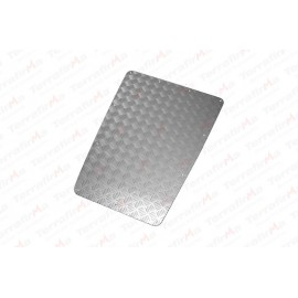 Mammouth 3mm Premium bonnet protection plate for Defender 1983-2007 (silver anodised)