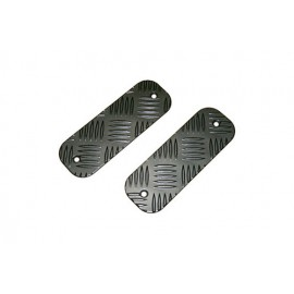 Mammouth 3mm Premium front bumper tread plates for Defender 1983 on (black powder coated)