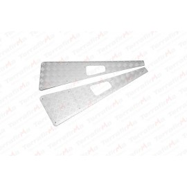 Mammouth 3mm Premium wing top protectors for Defender 1983-2007 (silver anodised)