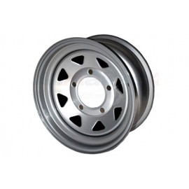 8 Spoke steel wheel (Silver)