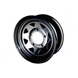 8 Spoke steel wheel (Black)